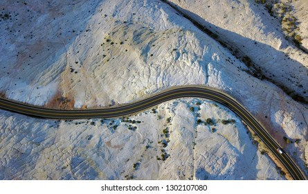 Aerial view of US12 scenic byway in Escalante National Monument, Utah, USA.
