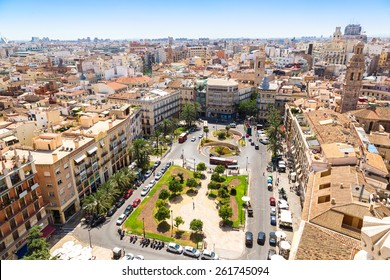 Aerial view of Valencia in a summer day, Spain