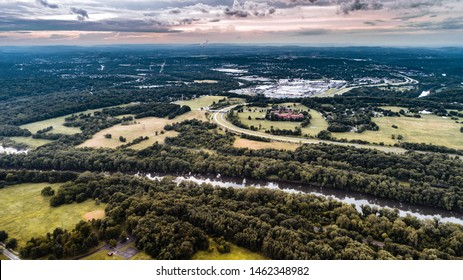 Aerial view from the Valley Forge National Historical Park - USA