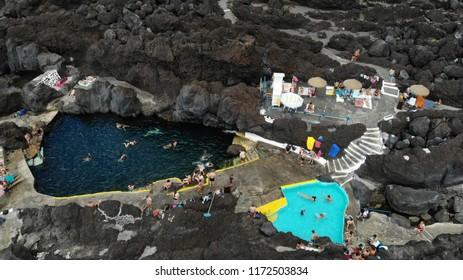 Aerial View - Varadouro - Faial - Azores - Excellent and unique bathing area