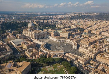 Aerial view of Vatican city, Rome, Italy