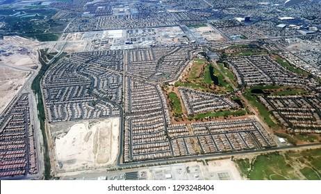 Aerial View of Vegas Subdivision