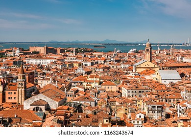 Aerial view of the Venice city, Italy