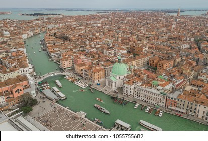 Aerial view of Venice and its Grand canal