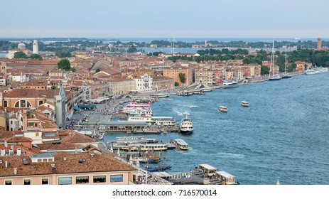 Aerial View of Vennice Italy