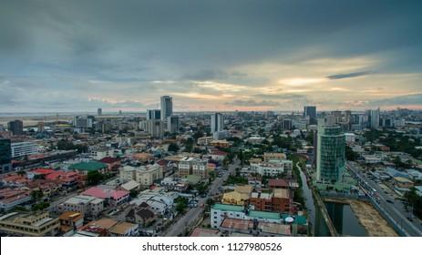 Aerial view of Victoria Island Lagos Nigeria