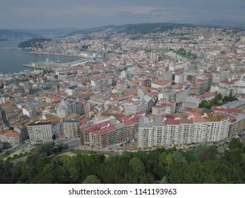 Aerial View Vigo Spain