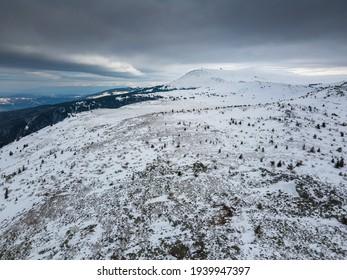Aerial view of Vitosha Mountain near Kamen Del Peak, Sofia city Region, Bulgaria - Shutterstock ID 1939947397