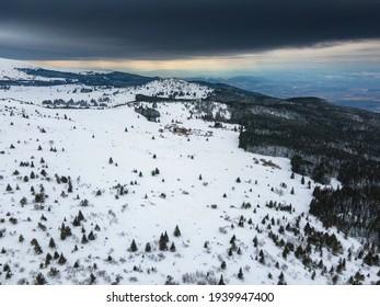 Aerial view of Vitosha Mountain near Kamen Del Peak, Sofia city Region, Bulgaria - Shutterstock ID 1939947400