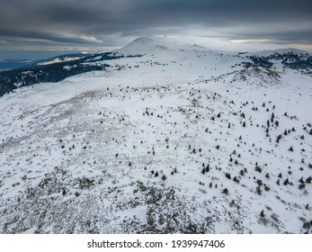 Aerial view of Vitosha Mountain near Kamen Del Peak, Sofia city Region, Bulgaria - Shutterstock ID 1939947406