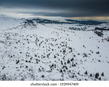 Aerial view of Vitosha Mountain near Kamen Del Peak, Sofia city Region, Bulgaria - Shutterstock ID 1939947409