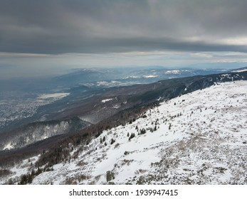 Aerial view of Vitosha Mountain near Kamen Del Peak, Sofia city Region, Bulgaria - Shutterstock ID 1939947415