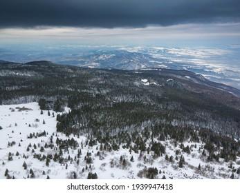 Aerial view of Vitosha Mountain near Kamen Del Peak, Sofia city Region, Bulgaria - Shutterstock ID 1939947418