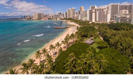 Aerial view of Waikiki Hawaii
