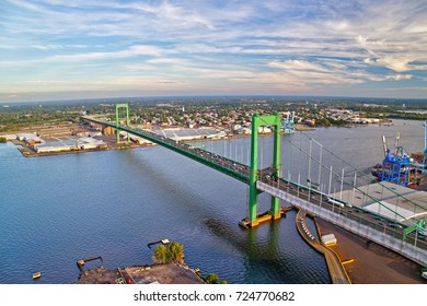 Aerial View of Walt Whitman Bridge Philadelphia