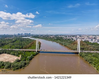 Aerial view of Warsaw, capital of Poland