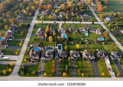 Aerial view of Waterloo Region, Ontario, Canada
