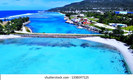 Aerial View of the West Bay on Rota, Northern Mariana Islands