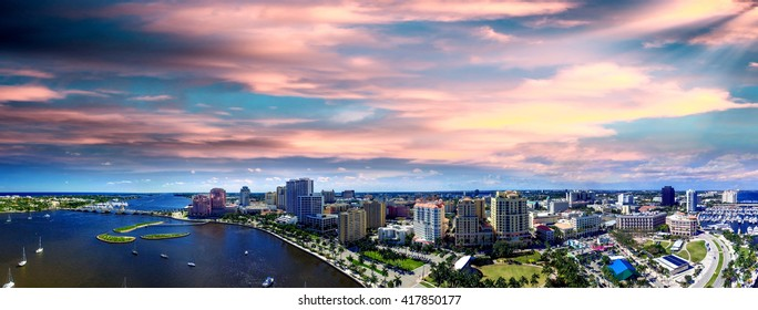 Aerial view of West Palm Beach, Florida.
