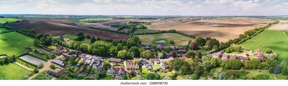 aerial view of Westmill, Village near Buntingford, Herts