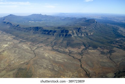 Aerial view of Wilpena Pound in the Flinders Ranges, South Australia