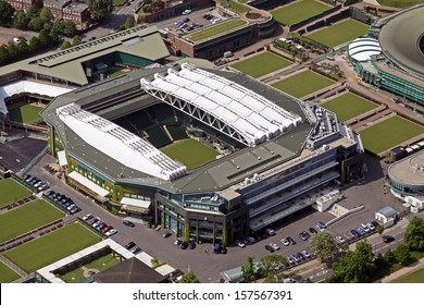 aerial view of Wimbledon Centre Court London, UK