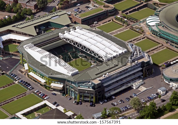 aerial view of Wimbledon Centre Court London, UK
