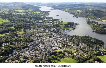 aerial view of Windermere in the Lake District, Cumbria, UK