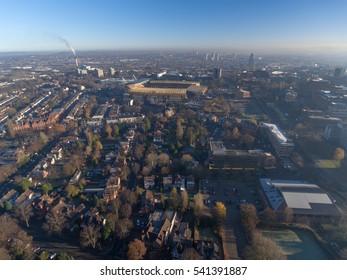Aerial view of Wolverhampton, UK.