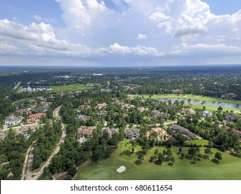 Aerial View from The Woodlands in Texas, USA
