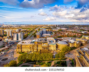 Aerial view of World museum in Liverpool, England