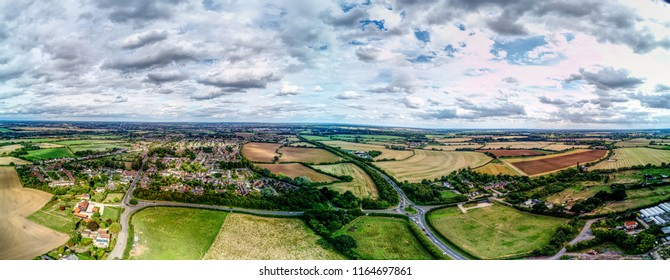 Aerial view of Writtle, village in essex near Chelmsford.