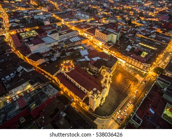 Aerial view of Xalapa downtown