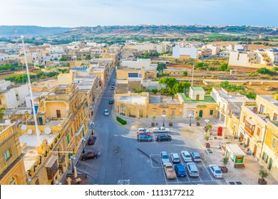 Aerial view of Xewkija on Gozo, Malta