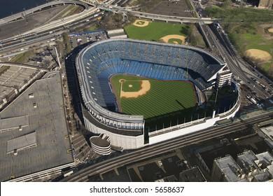 Aerial view of Yankees baseball Stadium, Bronx, New York