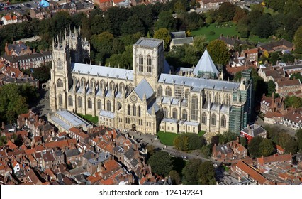aerial view of York Minster