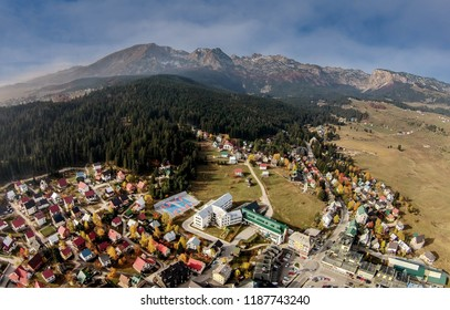 Aerial view of Zabljak town, Montenegro