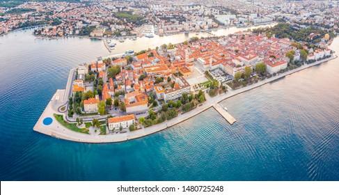 Aerial view of Zadar in summer, Croatia