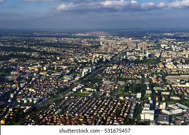 Aerial view of Zagreb city, Croatia.