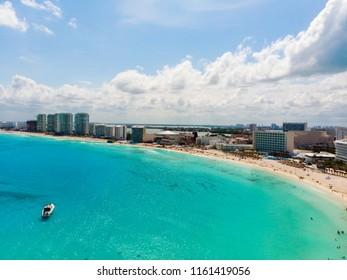 Aerial view of Zona HoteleraCancún, Quintana RooMexico