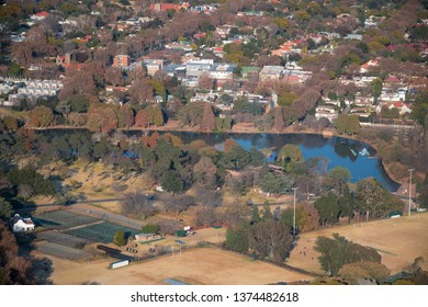 Aerial view of Zoo Lake in Parkview
