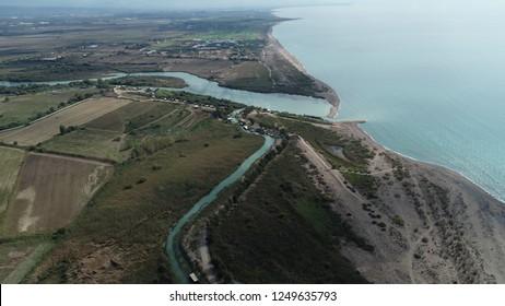 Aerial view/'Koprucay' stream in the Belek /Antalya,TURKEY
