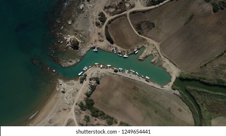 Aerial view/One of marina in the 'Belek' town,Antalya-TURKEY