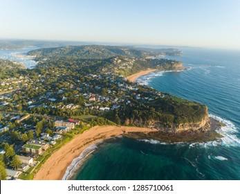 Aerial Views of Mona Vale Beach, Sydney, Australia