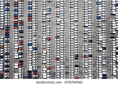 Aerial views with parkinglot background