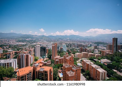 Aerial Views of the Poblado in Medellín Colombia