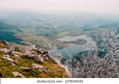 Aerial views of the Urkulu Reservoir, Guipuzcoa, Basque Country