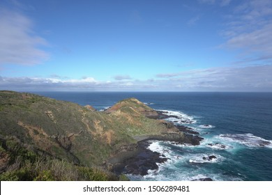 Aerial viiew of Cape Schanck in Victoria
