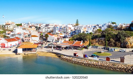 Aerial from the village Alvor in the Algarve Portugal