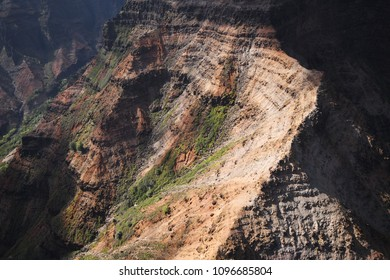 Aerial of Waimea Canyon in Kauai